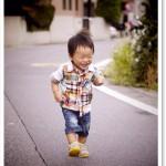 嬉しそうに歩くたもん。小走りするようになったので本当に目が離せない!