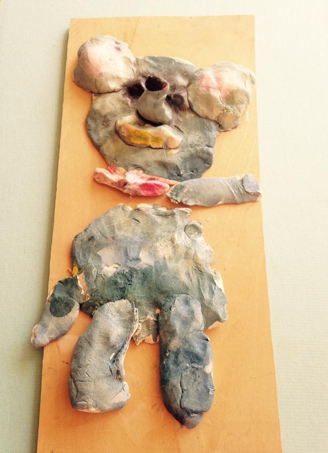 紙粘土の象