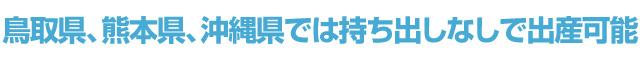 鳥取県、熊本県、沖縄県では持ち出しなしで出産可能